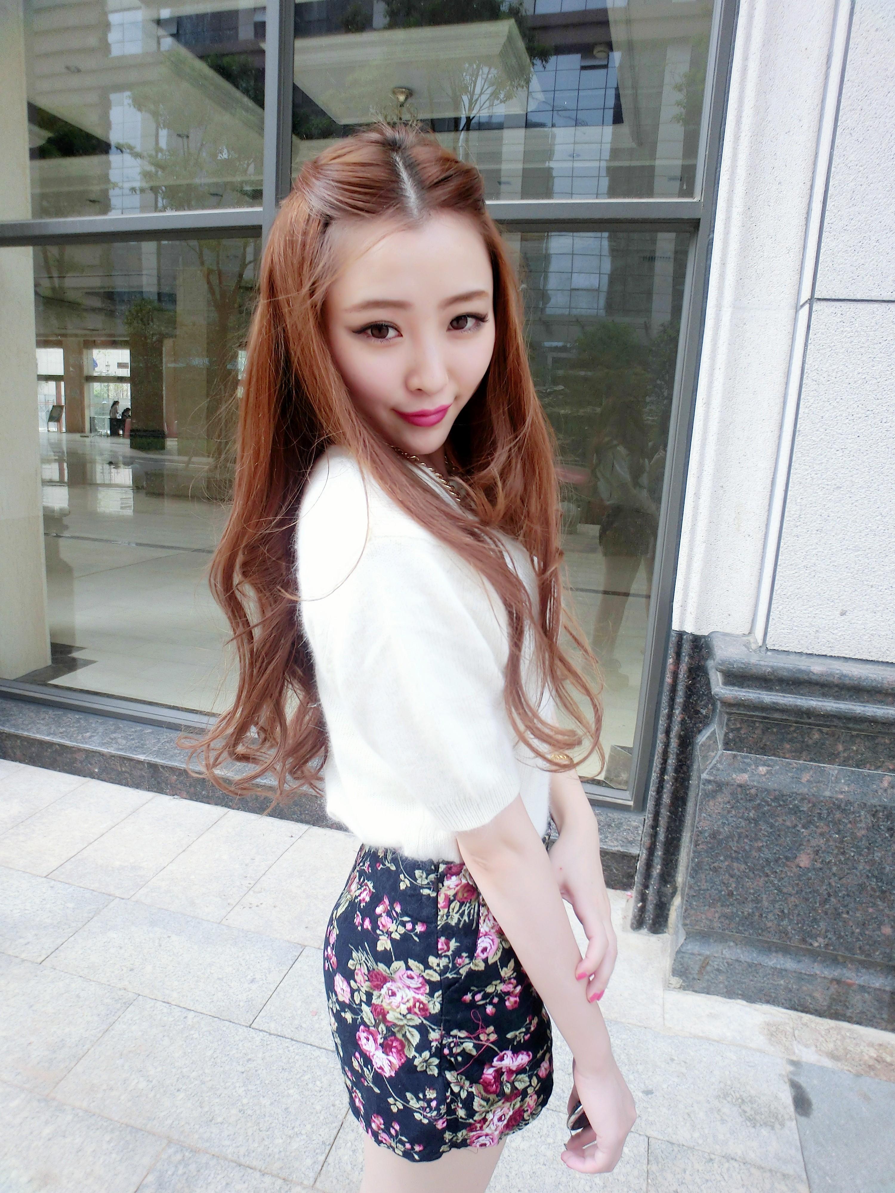 网友粘静1212分享jing的小搭配:今天穿上小兔毛的