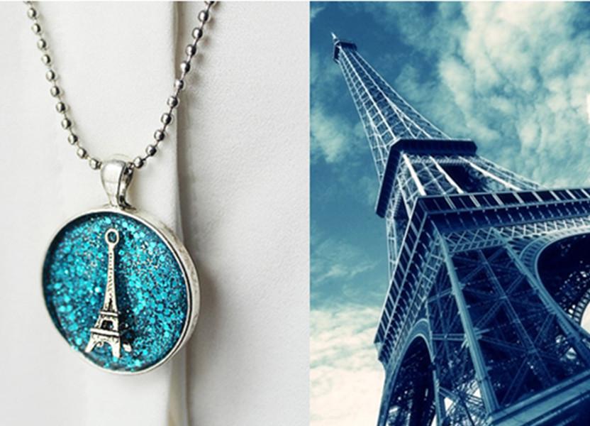 巴黎璀璨埃菲尔铁塔吊坠项链