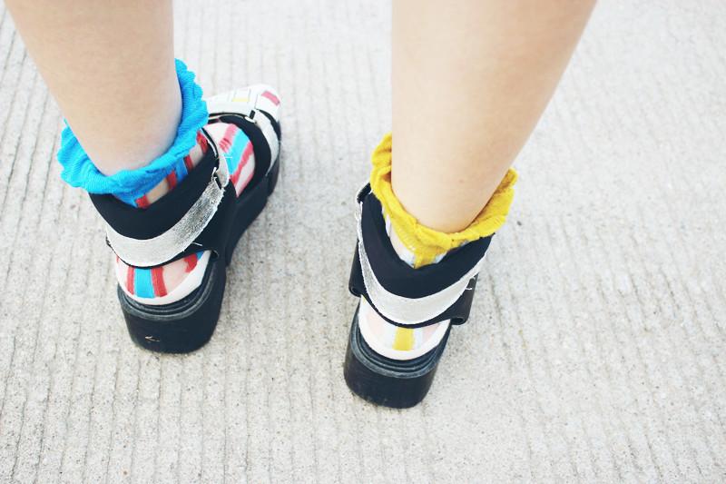 假脚趾玻璃丝短袜