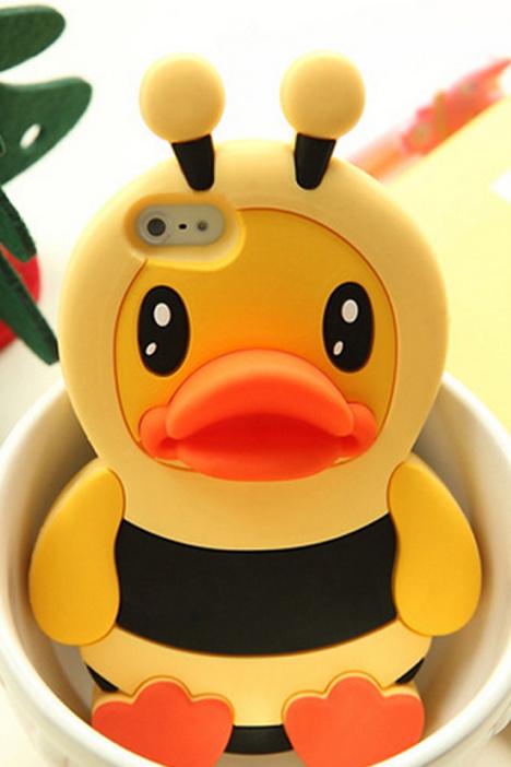 小黄鸭,韩系,小清新,可爱,情侣,手机壳,硅胶手机壳,新款手机壳