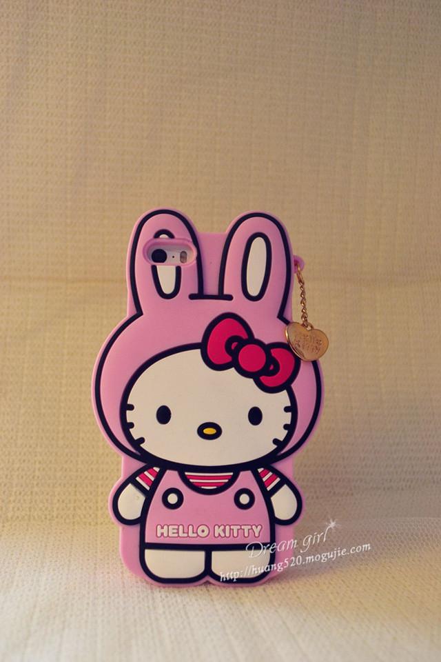 可爱hello kitty兔子猫手机壳