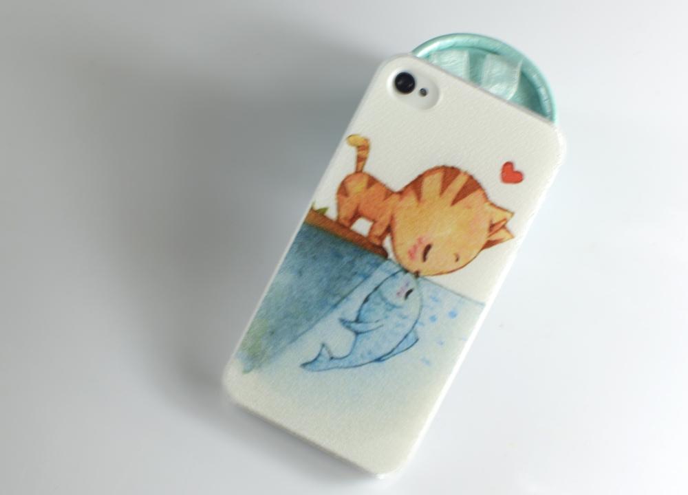 猫吻鱼iphone手机壳