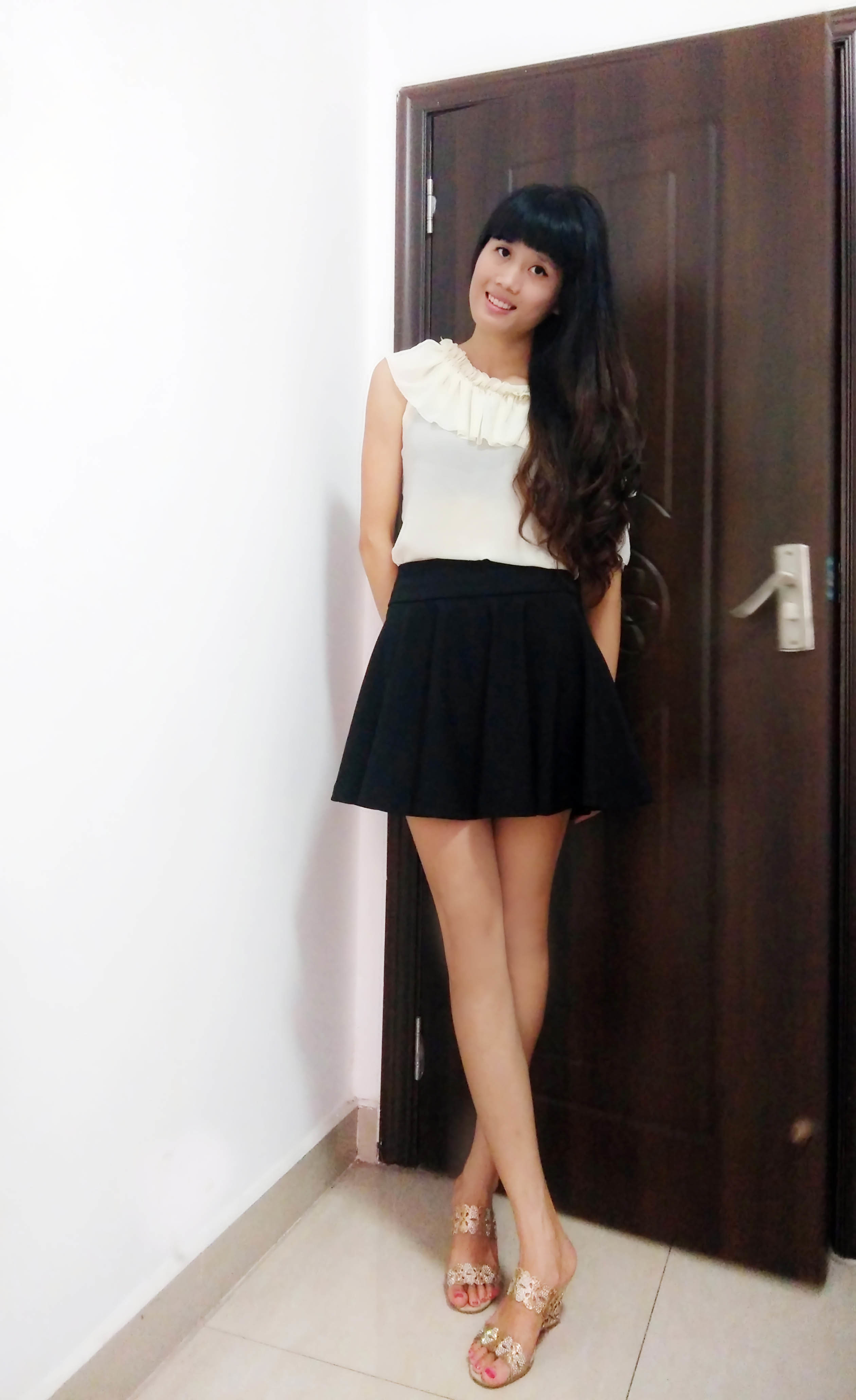 a字短裙搭配图片