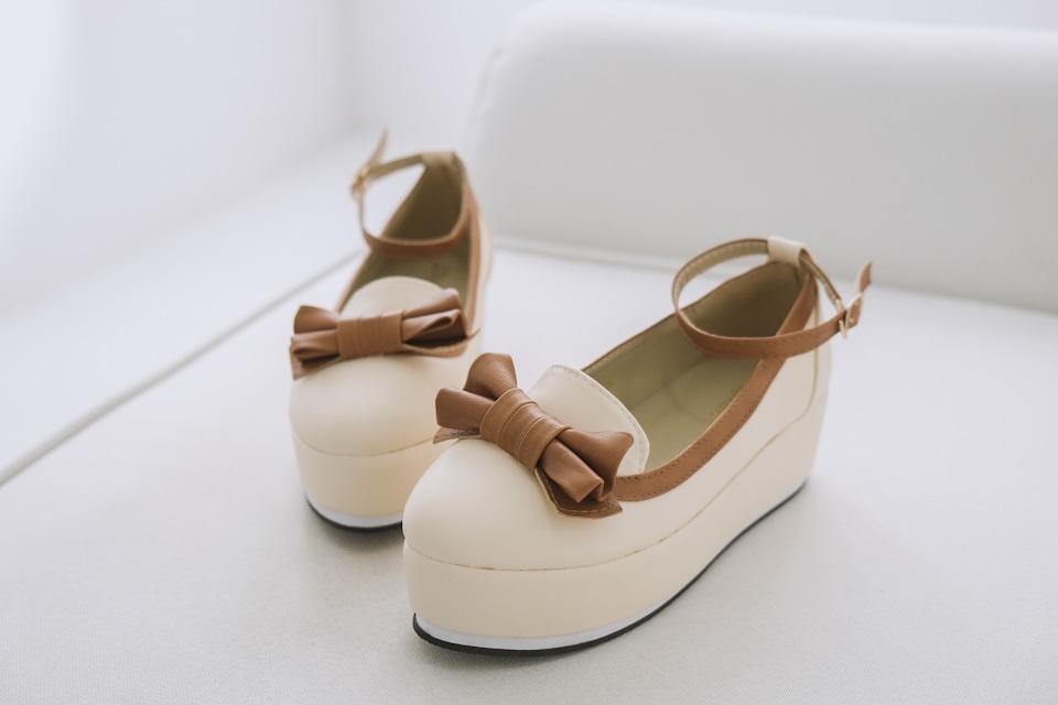 萝莉小公主松糕底小单鞋