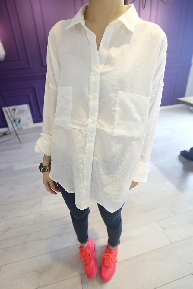 韩国白衬衫