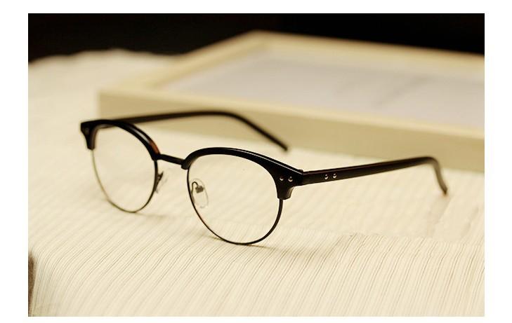 复古半框眼镜