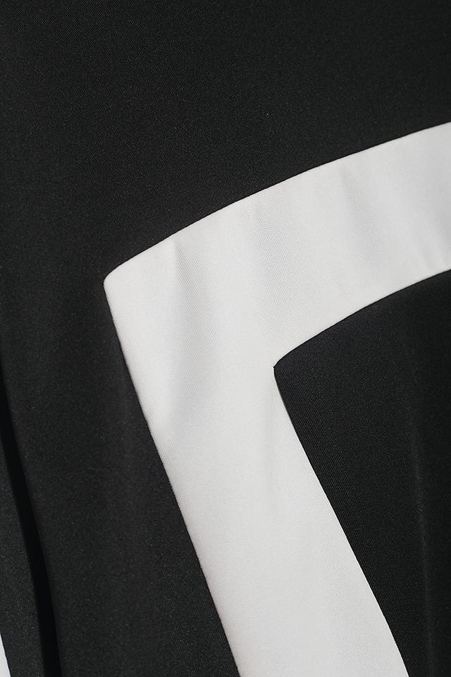 韩国东大门黑白几何卫衣