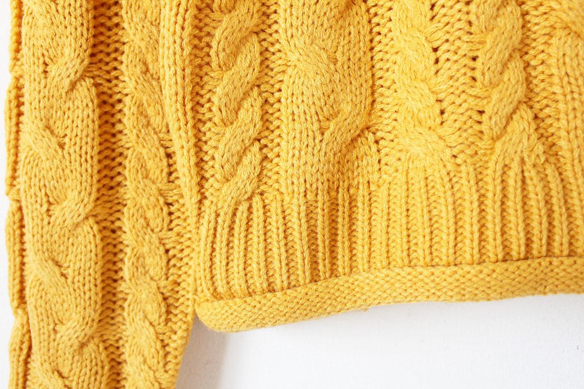 韩版毛线编织麻花竖纹图案毛衣