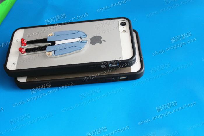 牛仔风情侣苹果头手机壳-来自蘑菇街优店图片