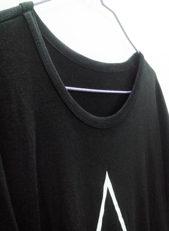 韩国三角几何字母连衣裙