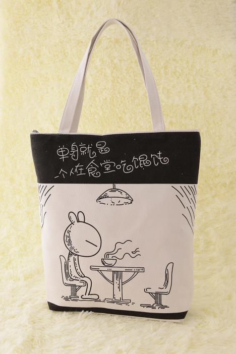 look 做工精致的印花帆布包,多种图案任您选,总有一款您中意的,包包可