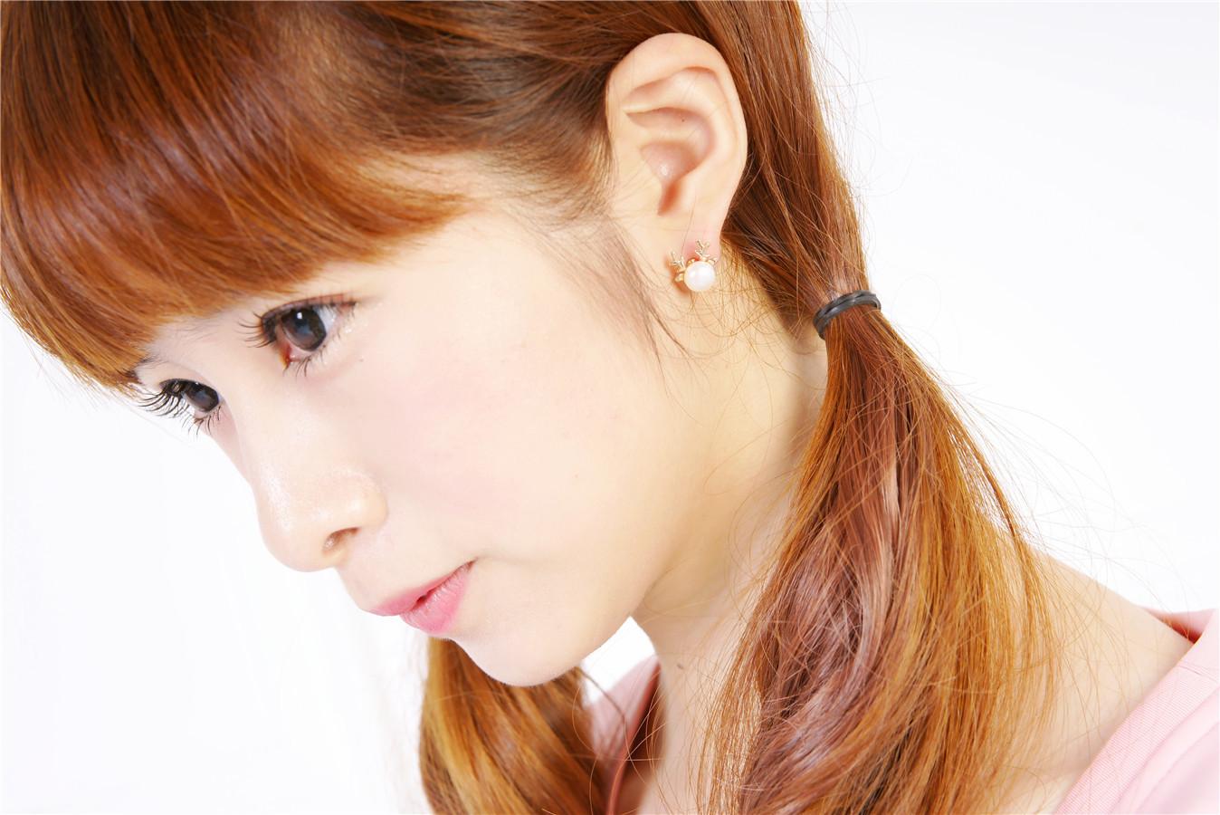 韩国原版可爱麋鹿珍珠耳钉-来自蘑菇街优店