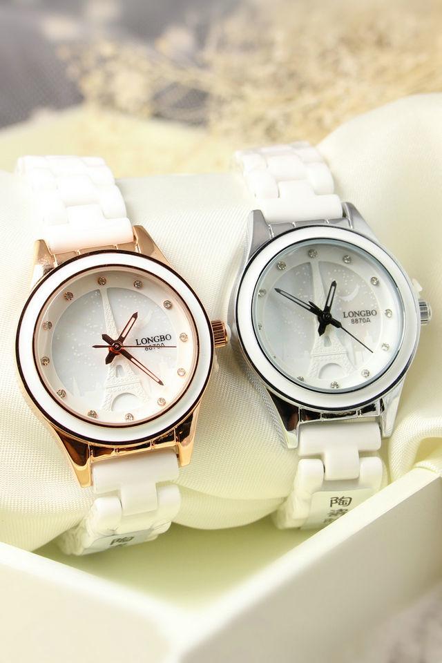 巴黎铁塔女士陶瓷手表