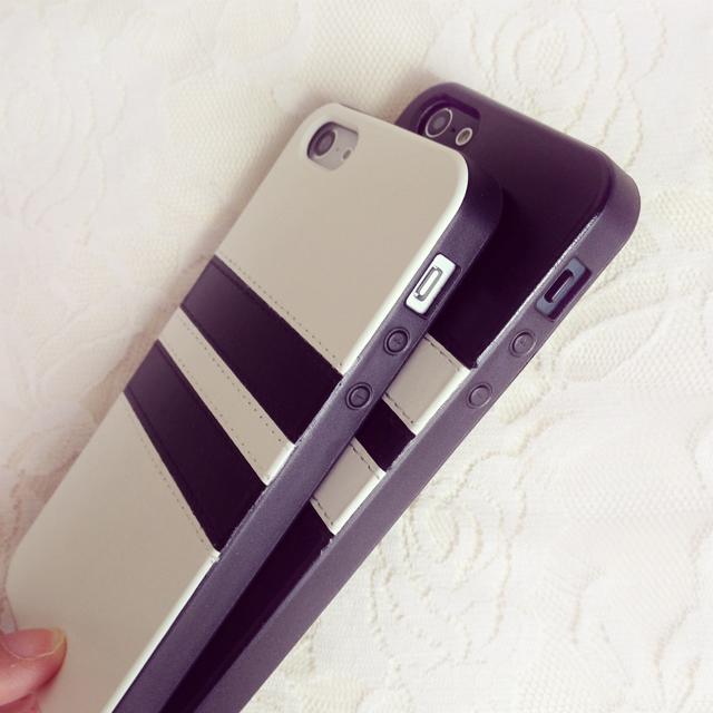 苹果 三星情侣条纹硅胶手机壳
