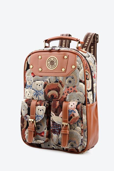 欧美风迷彩熊系列背包图片