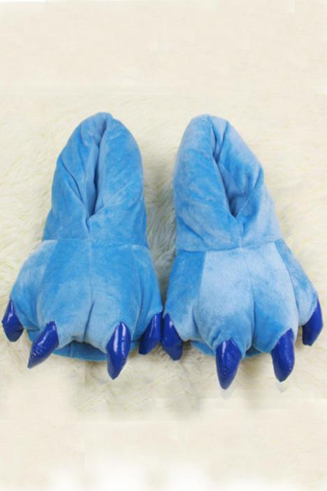 恐龙动物爪子连体拖鞋