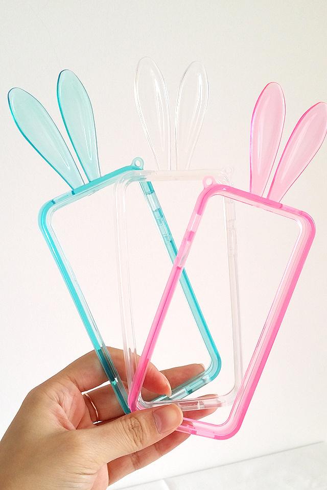 iphone手机壳边框兔耳手机边框