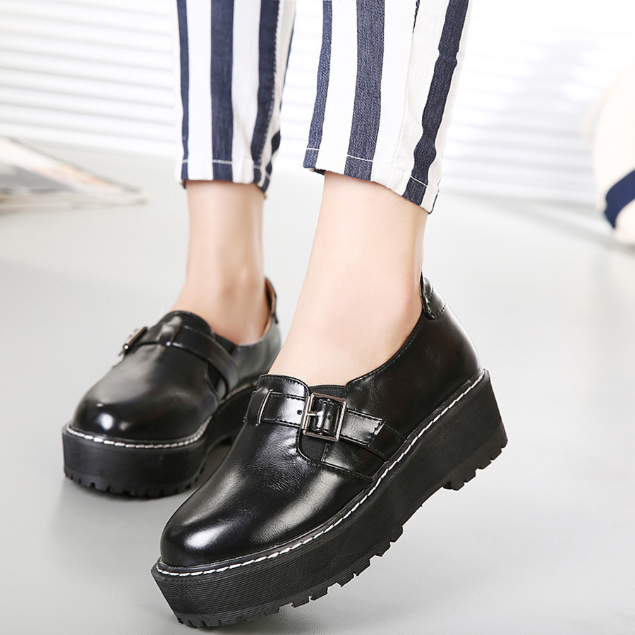 可爱简约小清新厚底单鞋