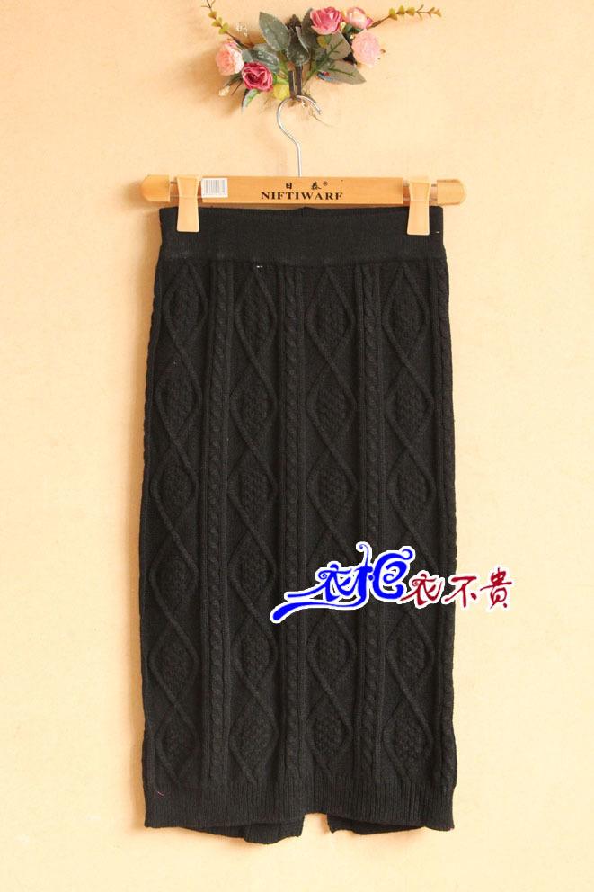 中粗毛线编织,裙子很保暖适合冬天时节穿