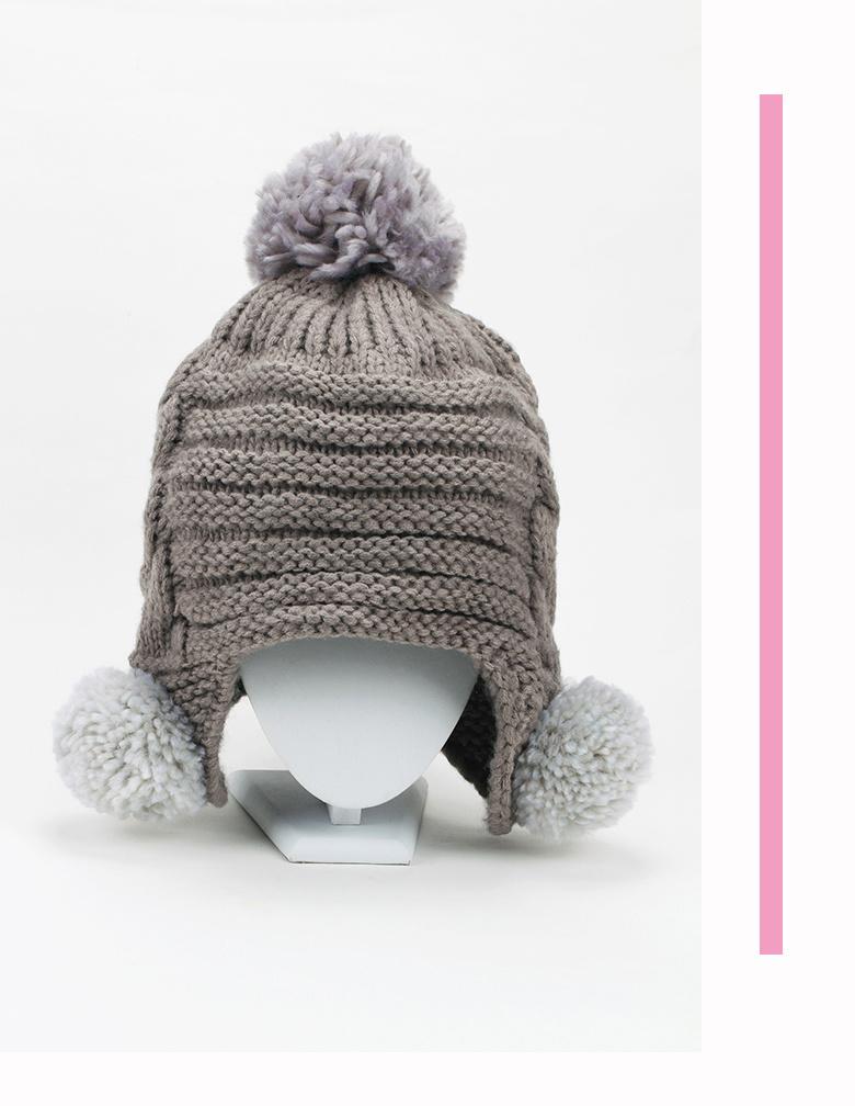 韩国可爱俏皮冬款毛线帽