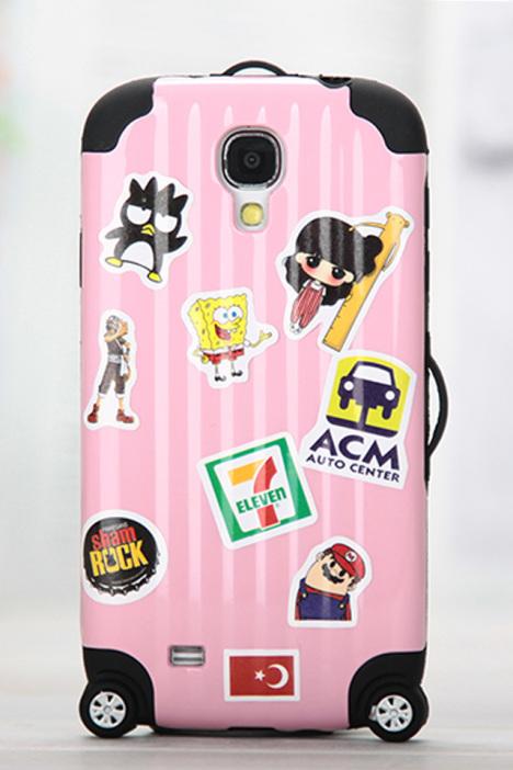 配饰,手机壳,三星,韩系,可爱,糖果色,三星s5,卡通手机壳,创意贴纸壳