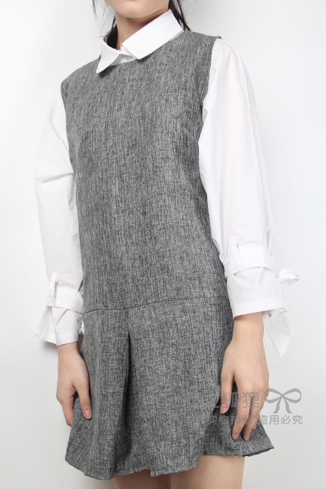 蝙蝠袖衬衣+背心裙【两件套】