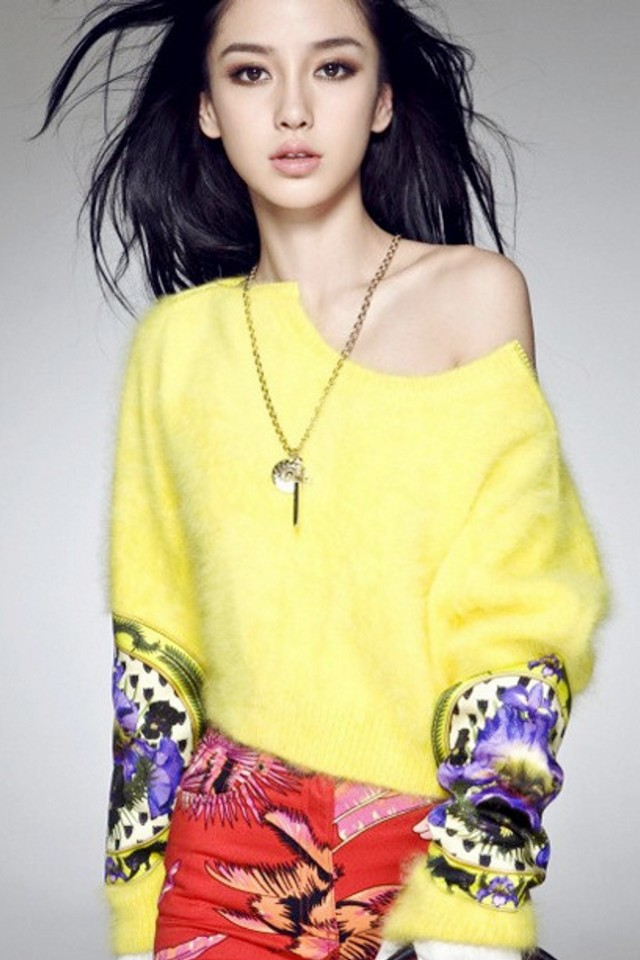 杨颖的照片超级可爱的