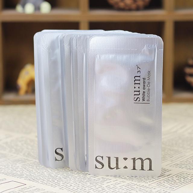 sum37呼吸美白氧气泡泡面膜