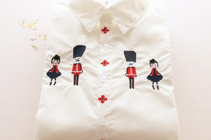 卡通人物绣花衬衫-来自蘑菇街优店