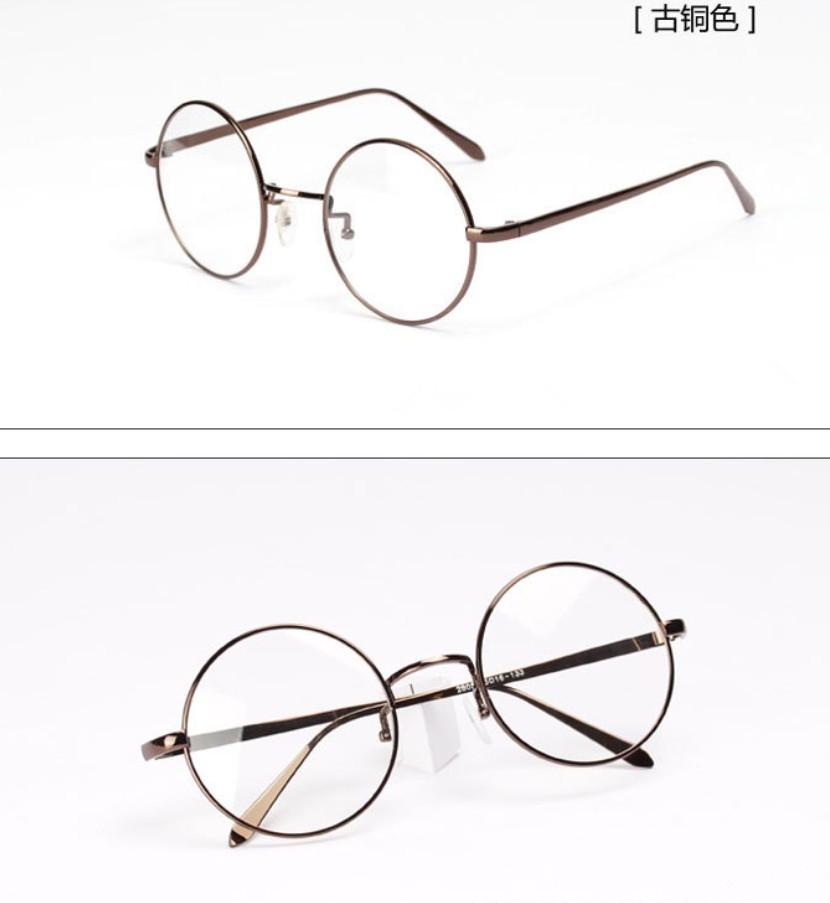 圆形复古金属眼镜框