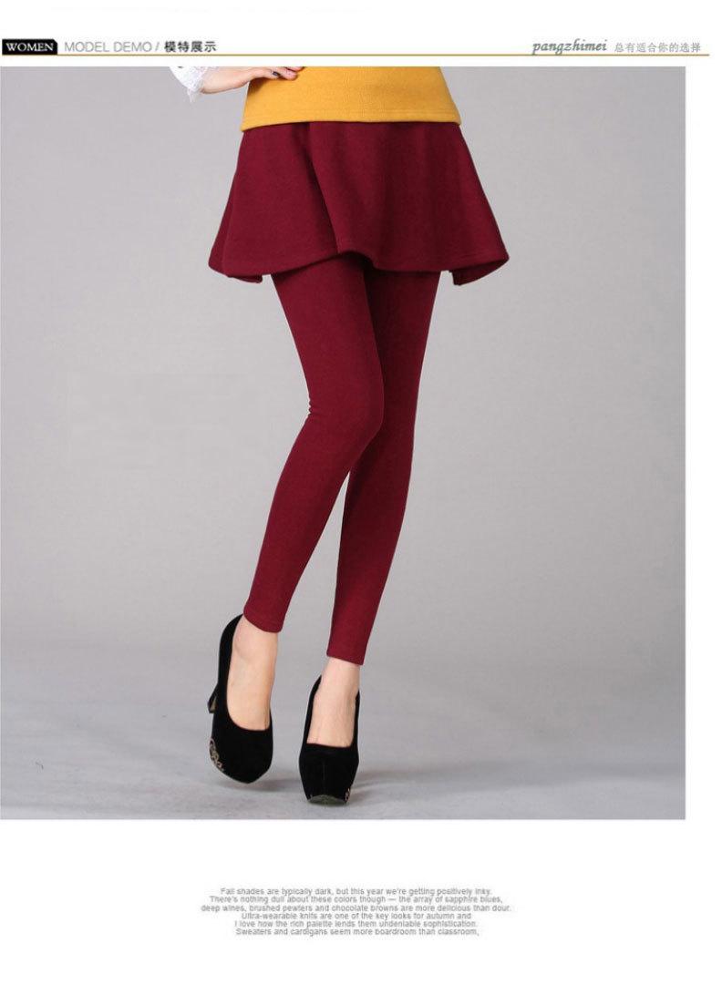 韩版新款加绒加厚打底裤
