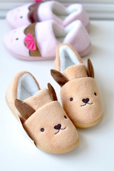 卡通加厚可爱情侣保暖棉鞋