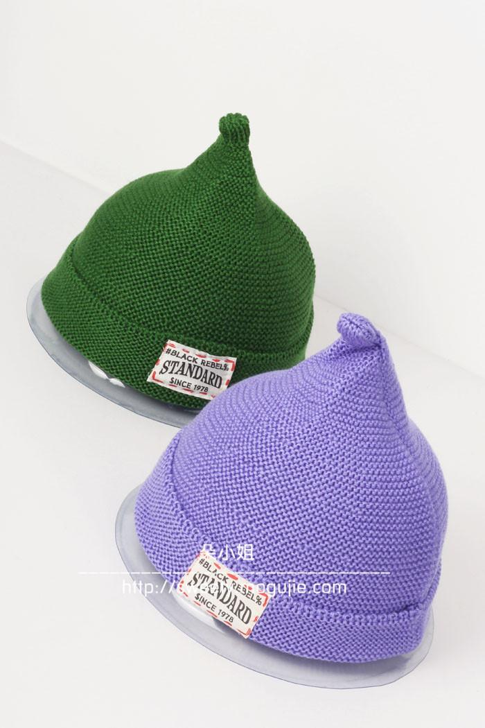 尖尖毛线帽子