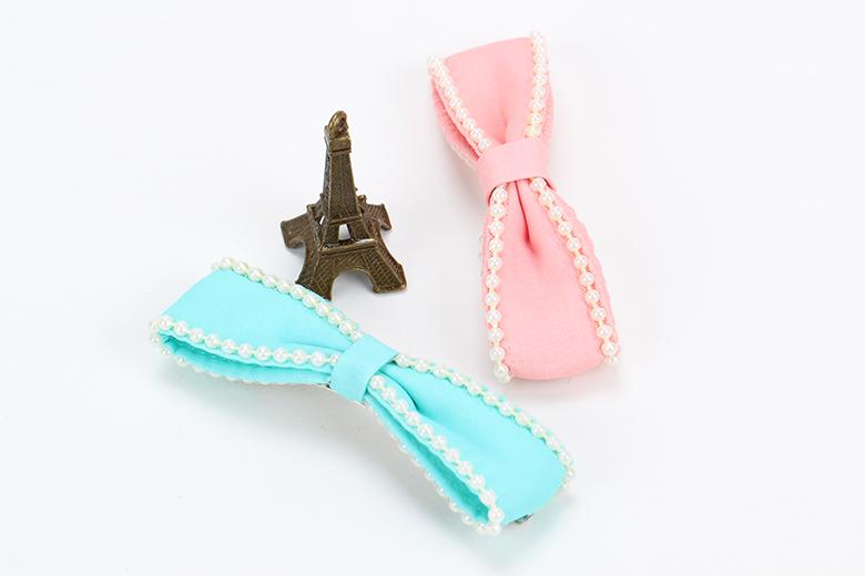 韩国小清新糖果色珍珠发夹