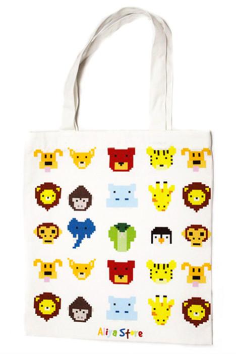 aliya/像素小动物环保袋