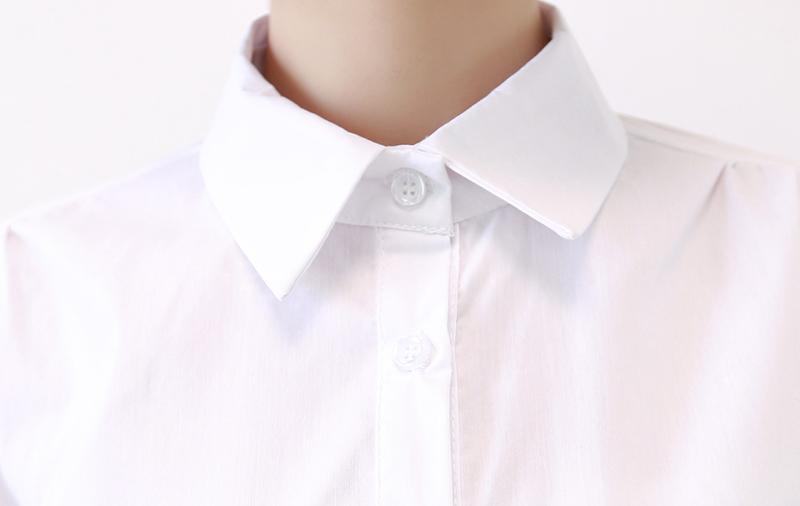 镂空花边灯笼袖衬衫