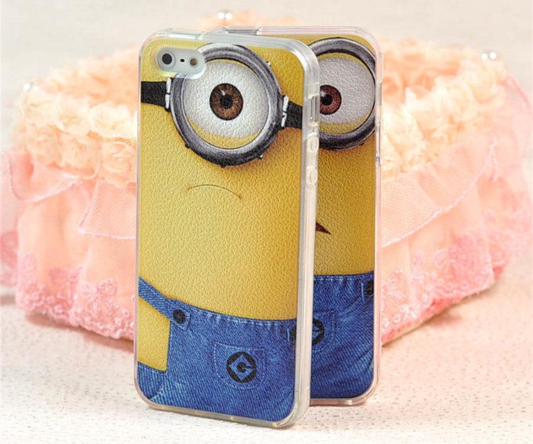 情侣小黄人硅胶苹果6手机壳
