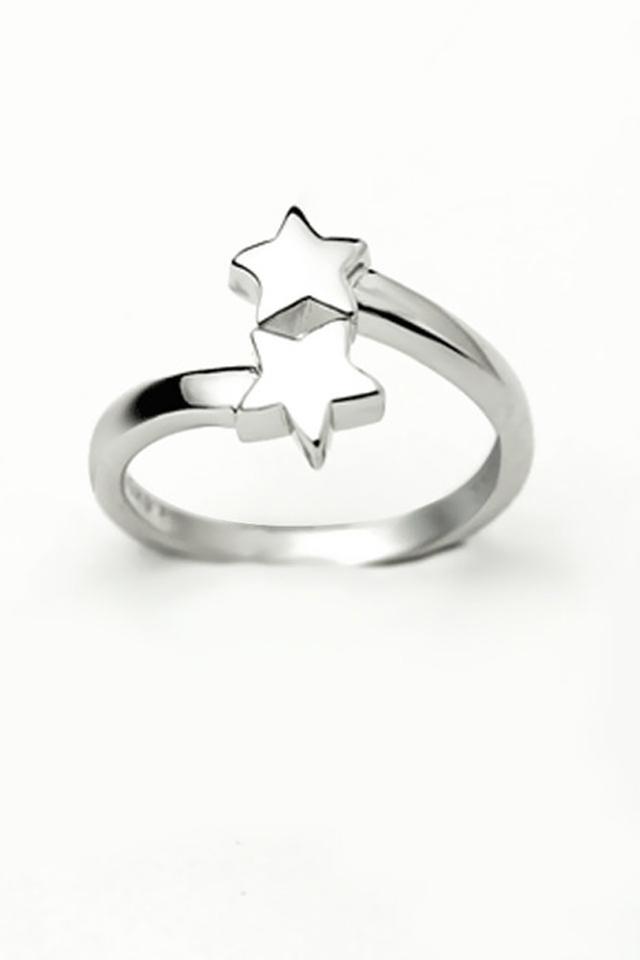 925纯银可爱星星戒指