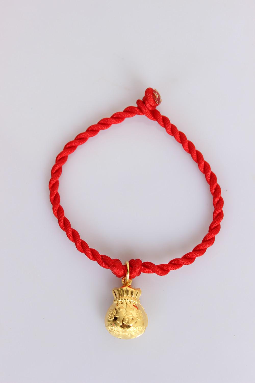 纯银转运福袋红绳手链