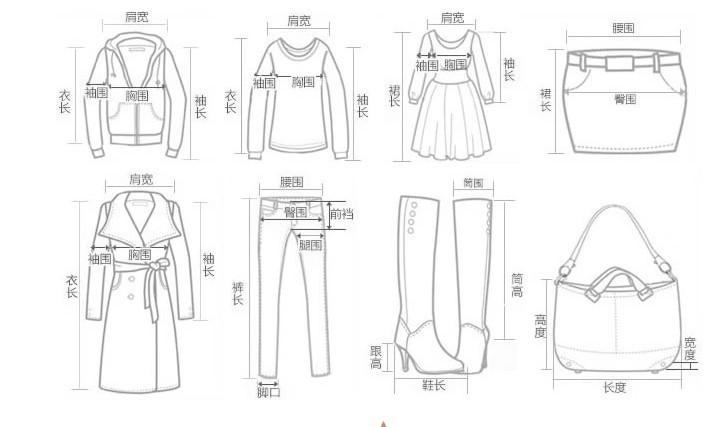 棉服手绘款式图