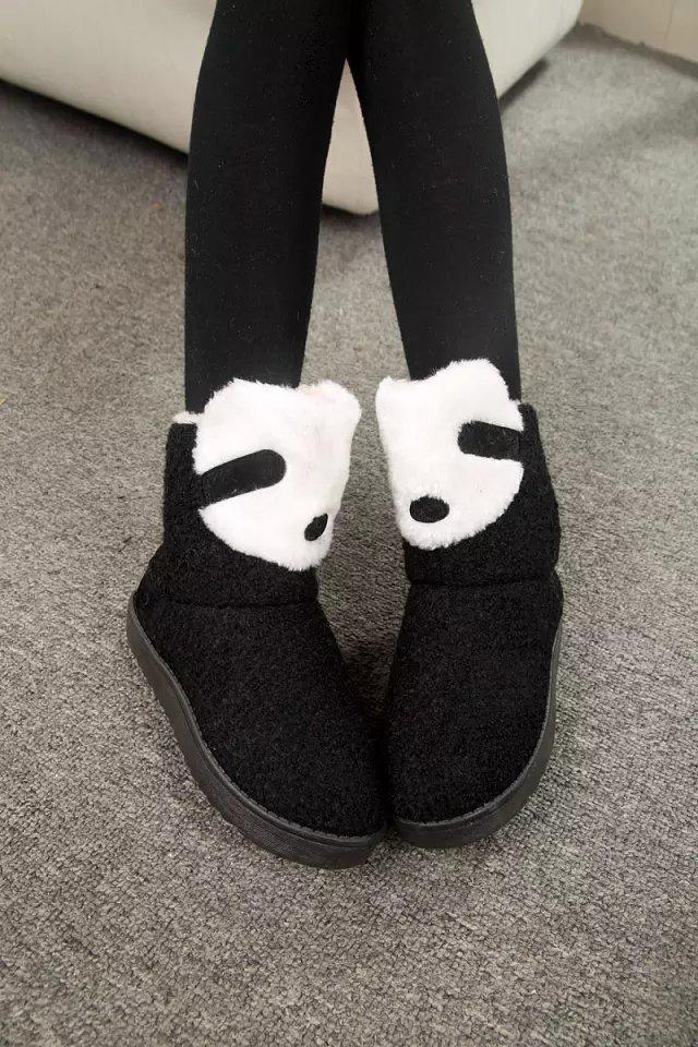 可爱小熊熊萌哒哒雪地靴