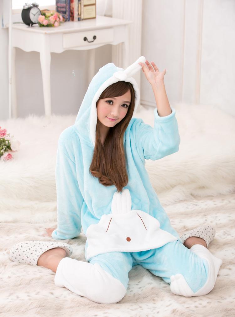 可爱兔兔加厚家居睡衣套装
