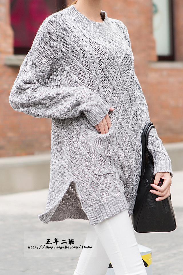 针织镂空立体纹理毛衣_美美编织
