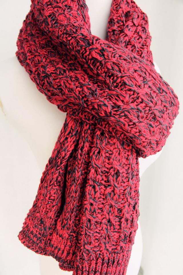 手工毛线编织杂色围巾-来自蘑菇街优店