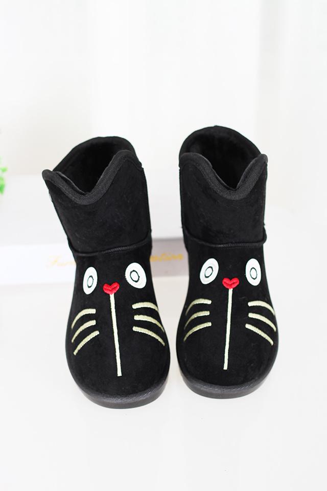 萌萌哒猫脸雪地靴