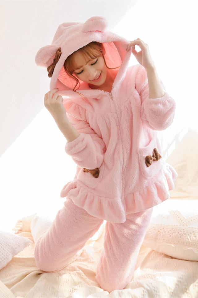 【冬日明艳】可爱猫耳朵睡衣