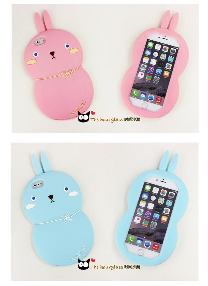 可爱硅胶葫芦兔子手机壳