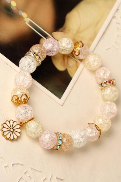 手链,可爱,小清新,礼物,韩国,粉色,糖果色