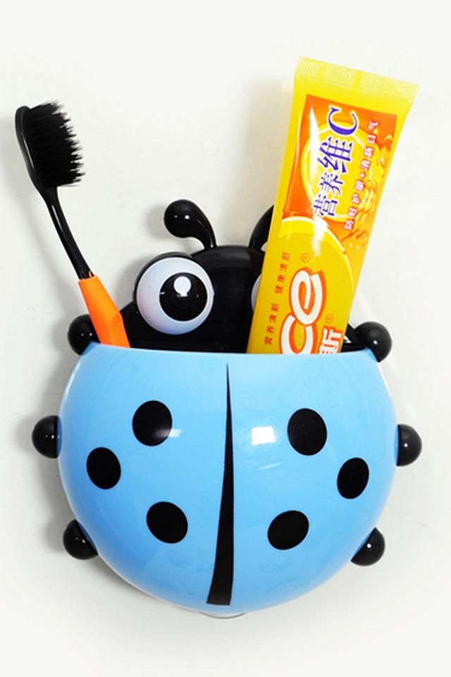 5 折 可爱创意瓢虫牙刷架 炫彩可爱,可爱的七星瓢虫造型,超强吸盘吸附