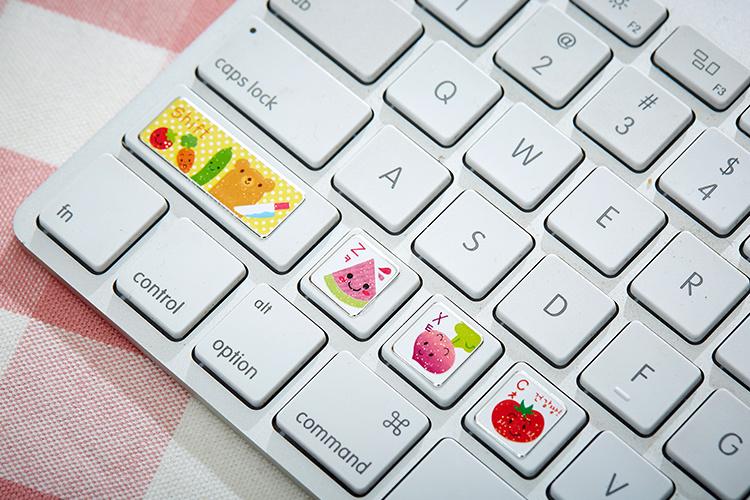 韩国新款可爱卡通键盘贴纸